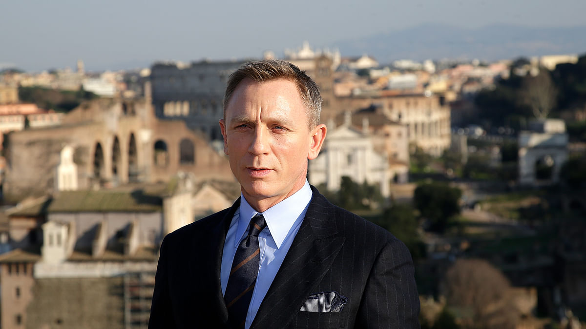 Daniel Craig shooting for the new James Bond movie<i> Spectre</i> in Rome. (Photo: Reuters)