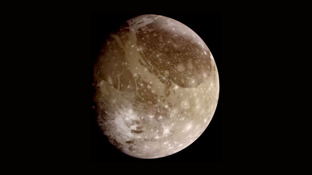 Ganymede, Jupiter's largest moon contains more water than all of Earth.