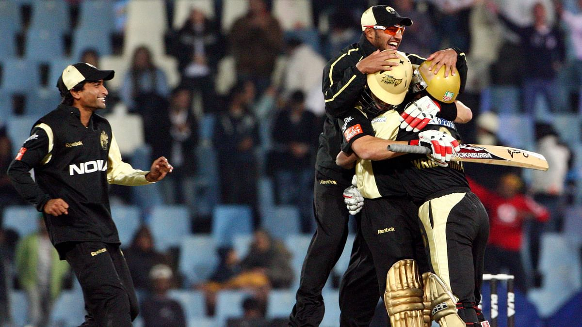 Kolkata Knight Riders winning the 2009 IPL Championship (Photo: Reuters)