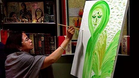 Painter didi. (Photo: facebook.com/MamataBanerjeeOfficial)