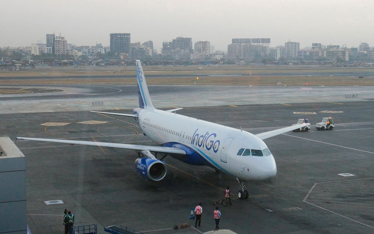 An IndiGo Airlines aircraft arrives at a gate of the domestic airport in Mumbai February 22, 2012. (Photo: Reuters)
