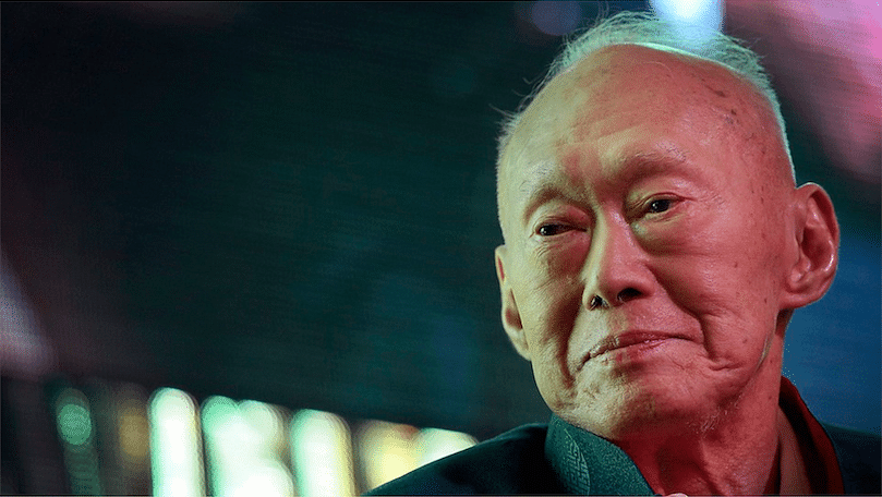 In this March 20, 2013 photo, Singapore's first Prime Minister Lee Kuan Yew attends the Shanghai Chartered Singapore Forum. Photo: AP/Wong Maya-E, File)