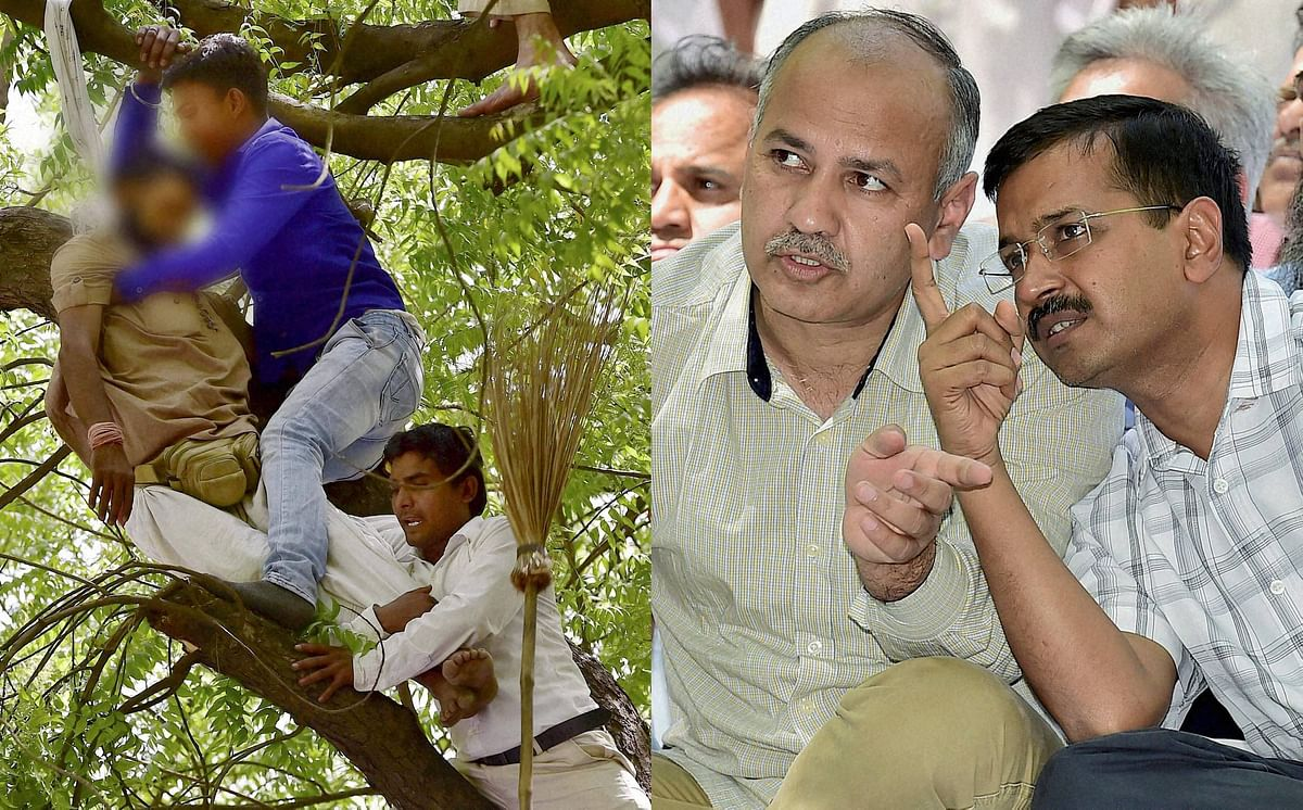 Gajendra Singh (L) committed suicide atan AAP rally attended by Delhi Chief Minister Arvind Kejriwal (R). (Photo: PTI)