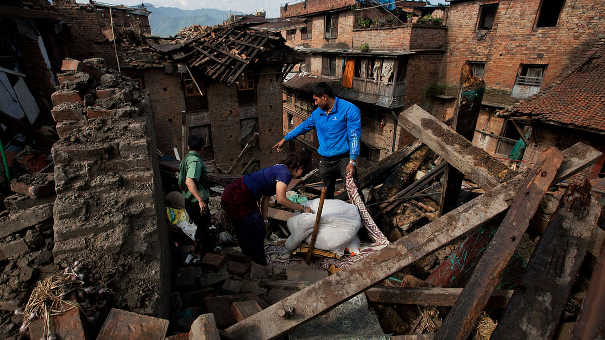 Hundreds of homes were destroyed in the massive Nepal earthquake. (Photo: AP)