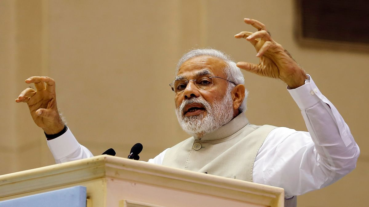 Prime Minister Narendra Modi speaks at the inaugural session of Re-Invest 2015, the first Renewable Energy Global Investors Meet & Expo, in New Delhi. (Photo: Reuters)