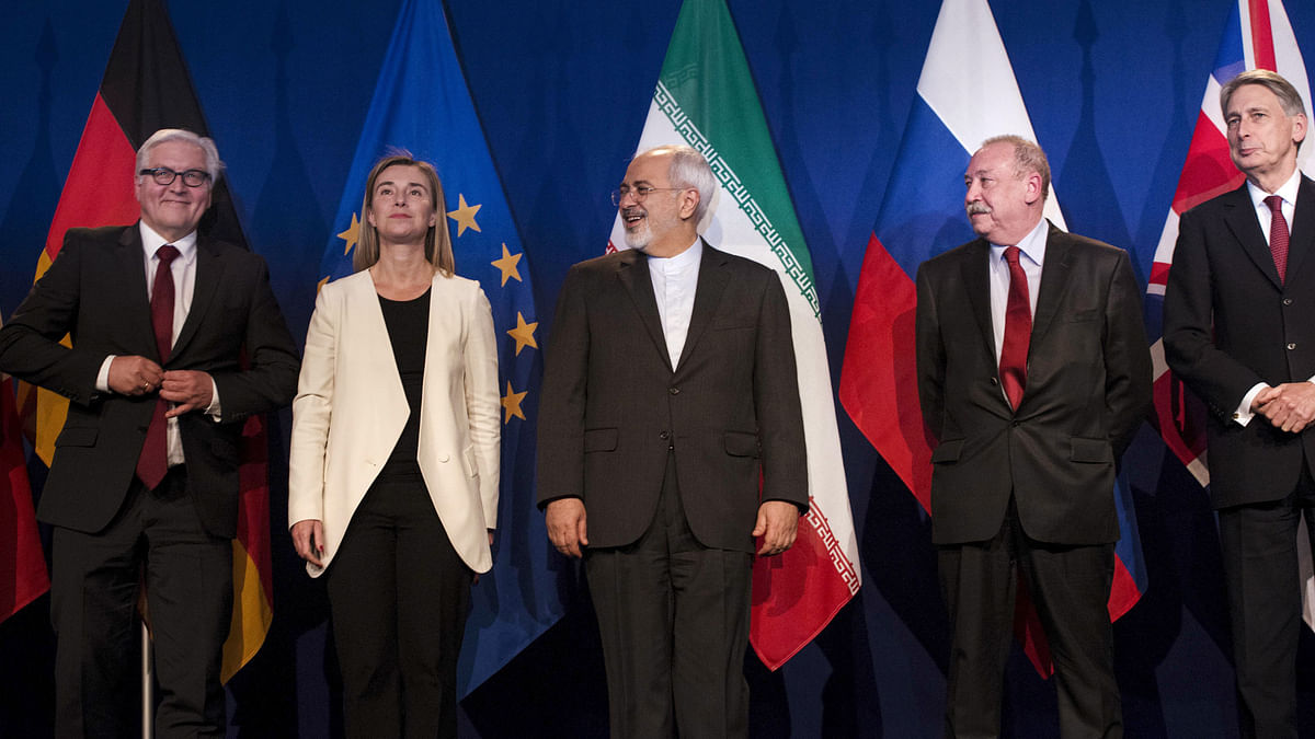 <!--StartFragment-->representatives of various countries are seen following nuclear talks at the Swiss Federal Institute of Technology in Lausanne. (Photo: Reuters)<!--EndFragment-->