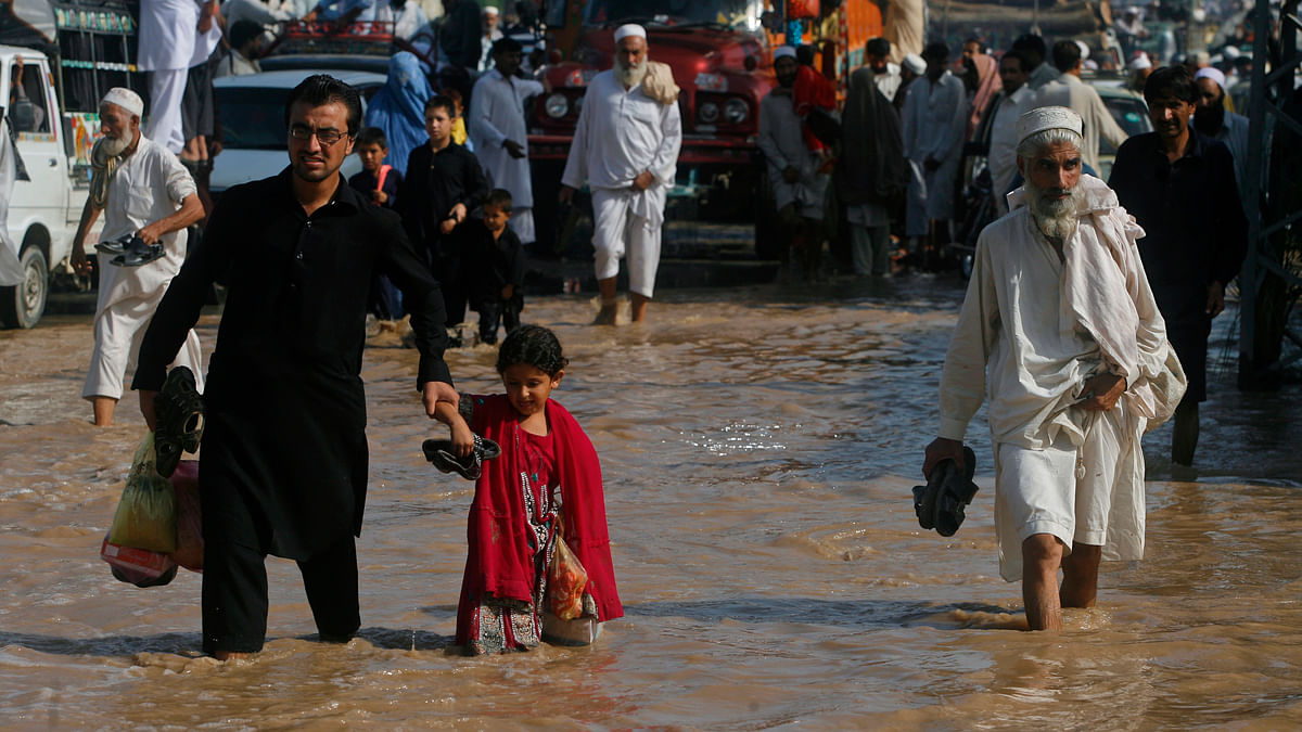 File Photo- Floods in Peshawar in 2012. (Photo: Reuters)