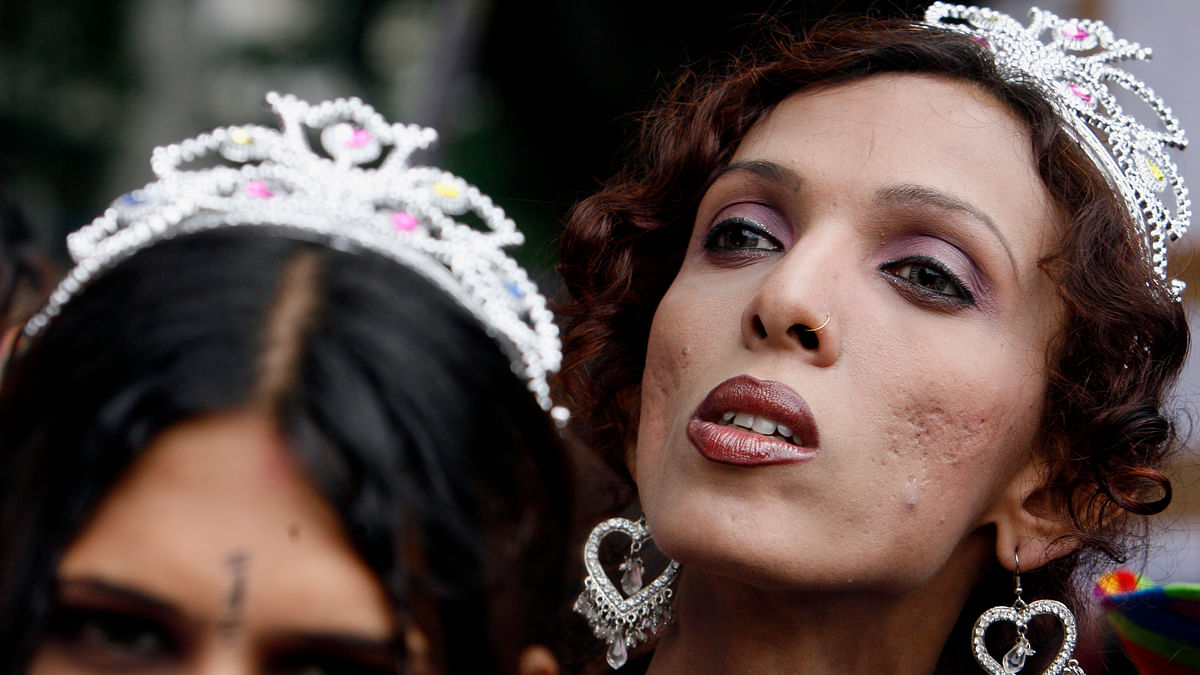 Transgenders participated in a parade for LGBT rights in Mumbai. (Photo: Reuters/Arko Datta)