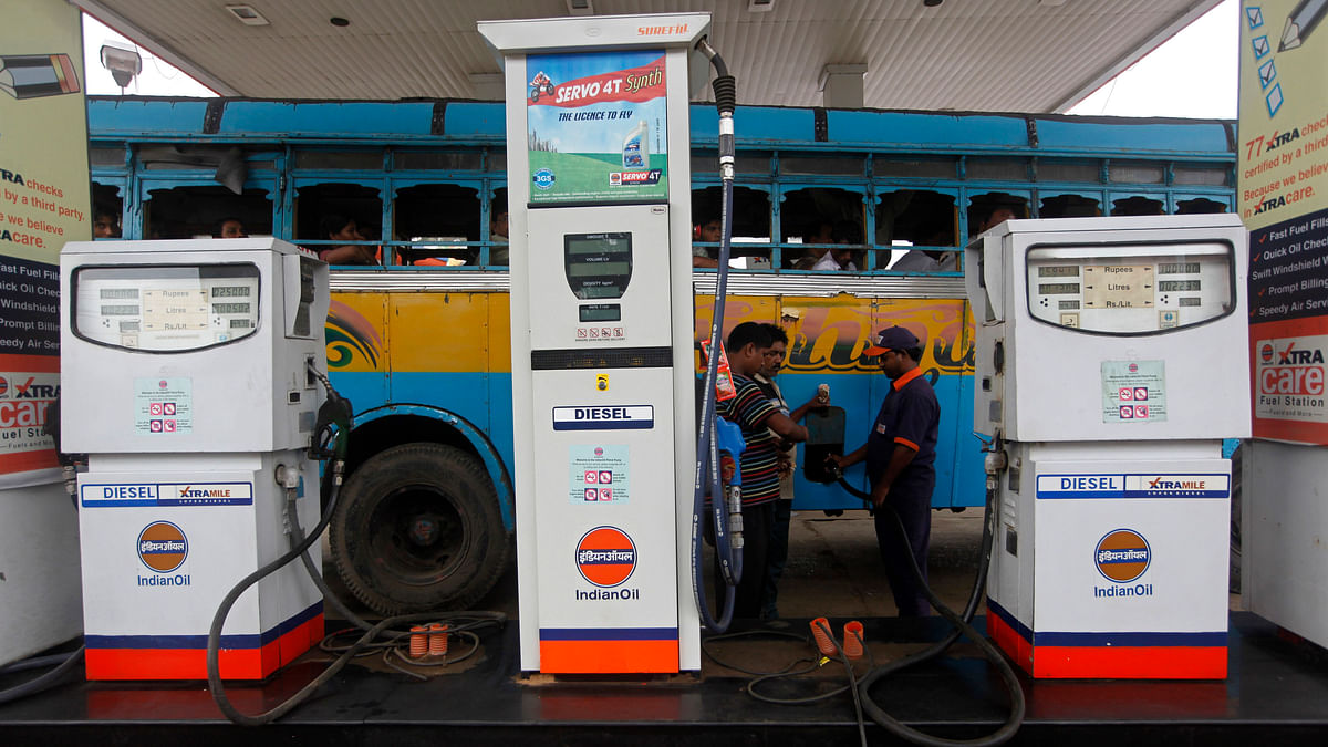 Under-recovery or losses suffered by oil retailers on account of selling diesel at below cost was Rs 8.37 per litre as on March 1, 2014. (Photo: Reuters)