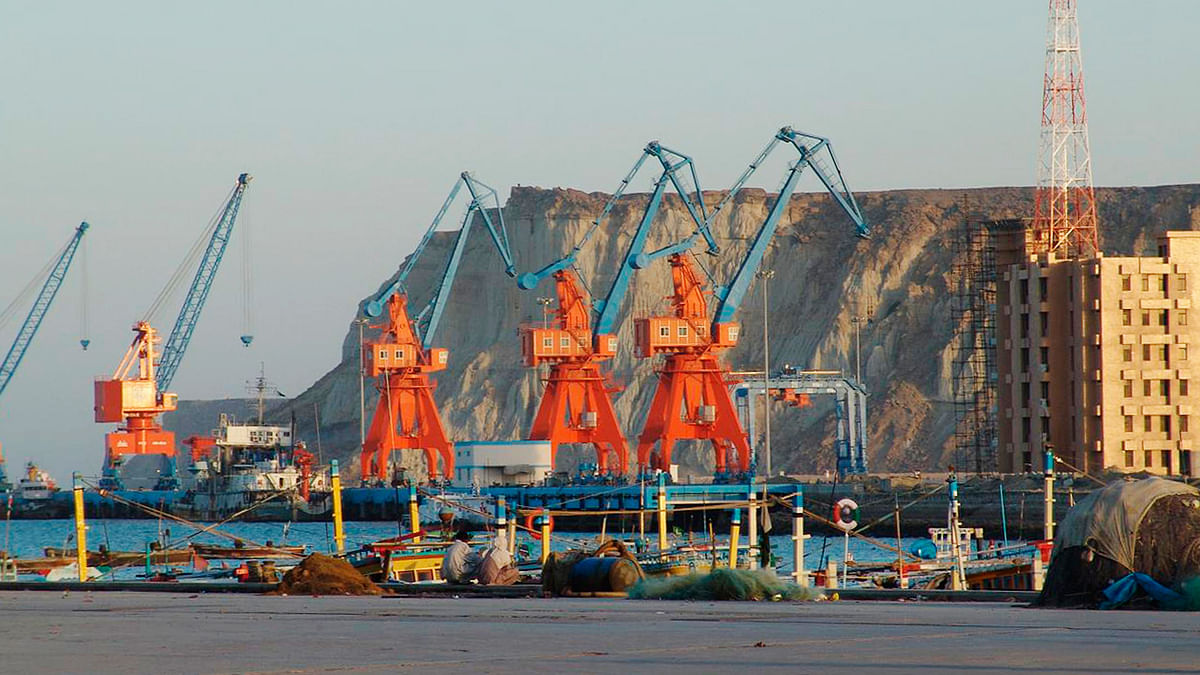 A view of the Gwadar port in Baluchistan in Pakistan. (Photo: Reuters)