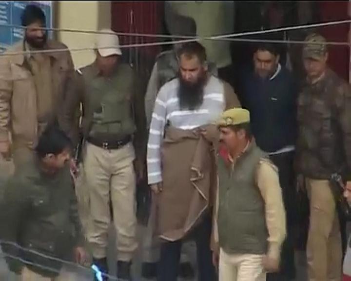 Separatist leader Masarat Alam in Srinagar. (Photo:ANI)
