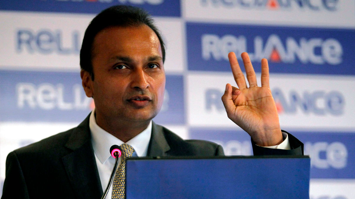 Anil Ambani, chairman of the Reliance Anil Dhirubhai Ambani Group, speaks during a news conference in Mumbai January 16, 2011.  (Photo: Reuters)
