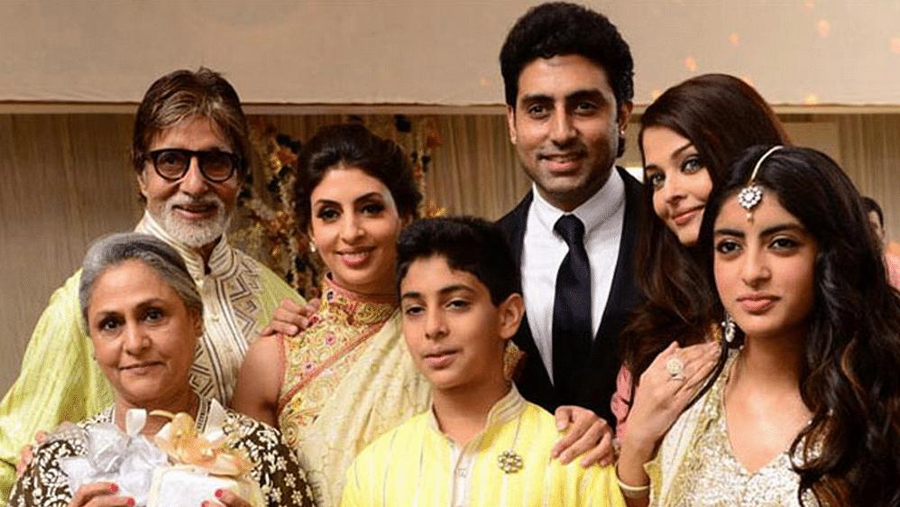 Amitabh Bachchan, Jaya Bachchan, Shweta Bachchan Nanda, Abhishek Bachchan, Aishwarya Rai Bachchan, Agastya Nanda and Navya Naveli Nanda.