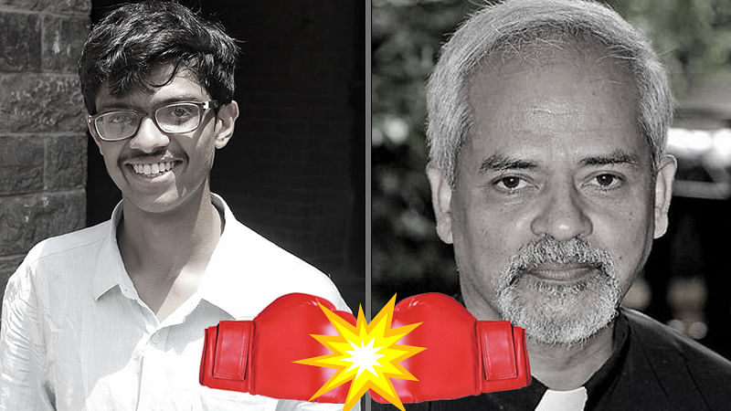 St. Stephen's College student Devansh Mehta has been battling college principal Reverend Valson Thampu