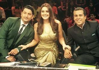 Chetan Bhagat with Preity  Zinta.