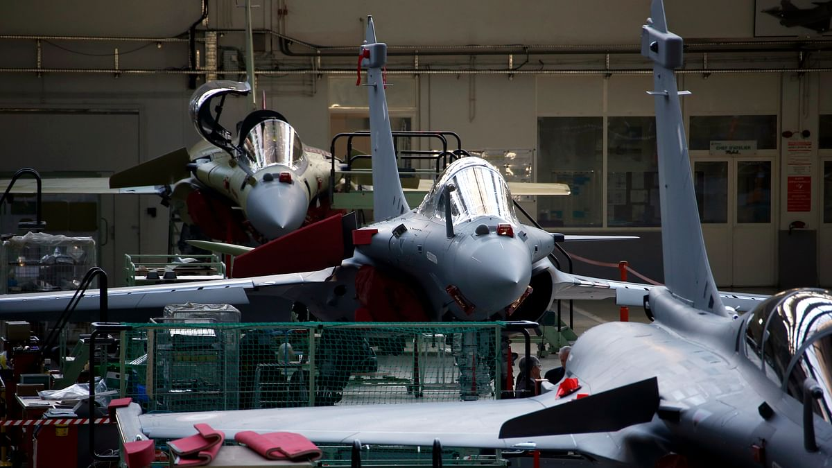 Rafale jet fighters on the assembly line in Dassault Aviation's factory in Merignac, France. (Photo Courtesy: Reuters)