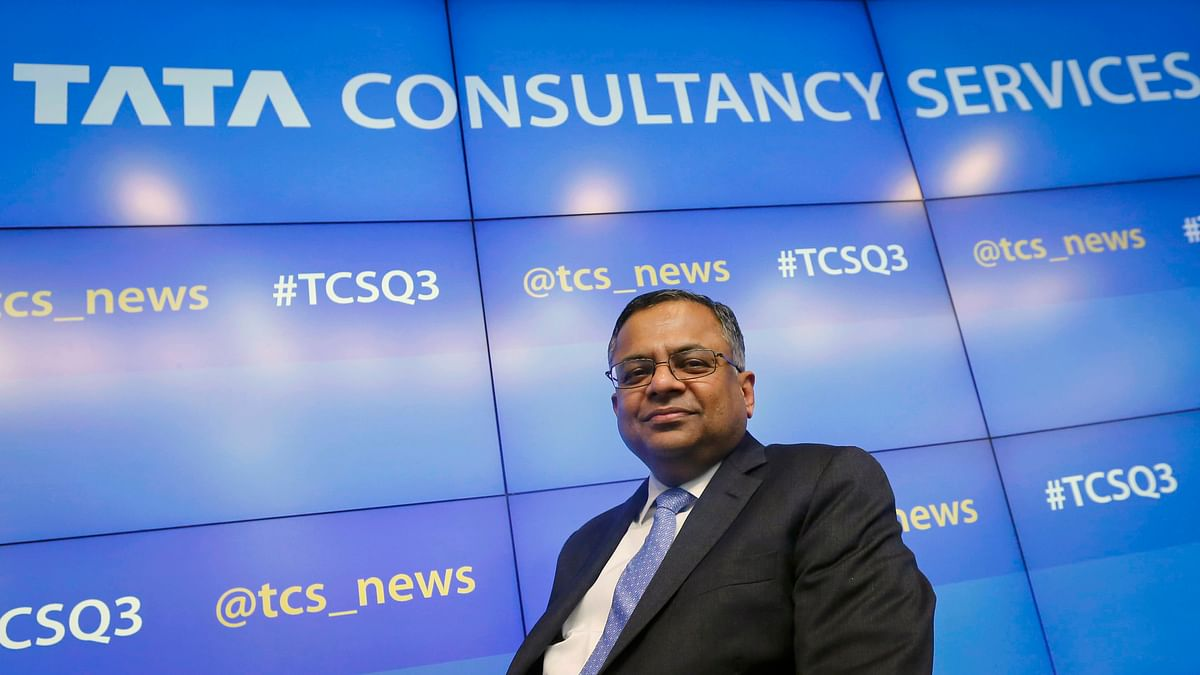 File photo of Tata Consultancy Services (TCS) Chief Executive N Chandrasekaran. (Photo: Reuters)