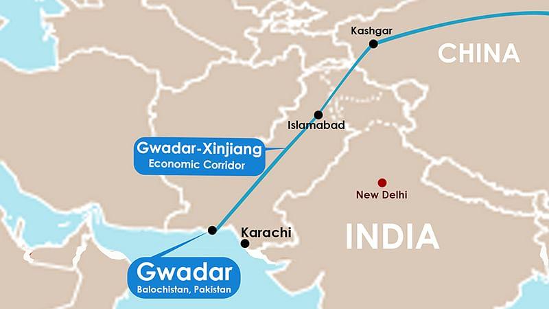 Chinese Premier Xi Jinxing tounveil a $46 billion economic corridor linking the strategic Gwadar Port in Balochistan to China's Xinjiang province.