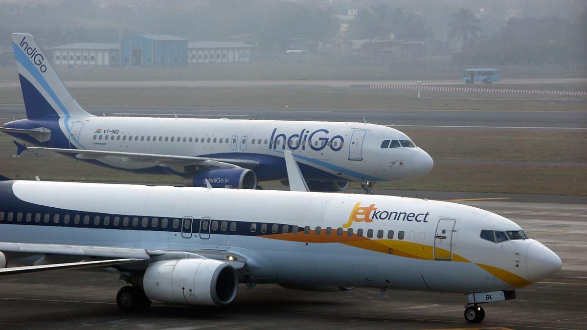 Representational image of an IndiGo Airlines Airbust A320 aircraft and JetKonnect  Boeing 737 aircraft taxi at Mumbai's Chhatrapathi Shivaji International Airport. (Photo: Reuters)