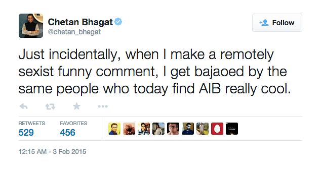 (Photo: Twitter.com/@chetan_bhagat)