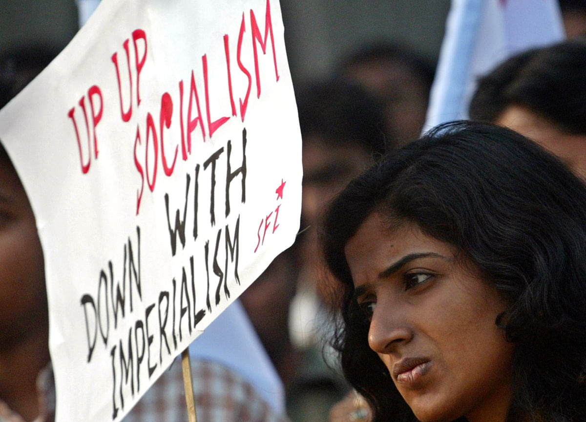 A student activist from the Students Federation of India. (Photo: Reuters/Parth Sanyal)