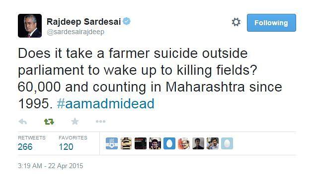 Social Media Fumes As Netas Score Points Over Farmer'sSuicide