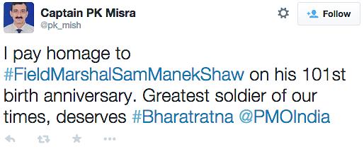 On Sam Bahadur's 101st, Indians Want to Gift Him a Bharat Ratna
