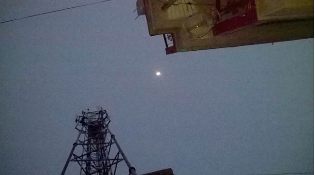 The moon as it appeared in Patna on April 26 at 7:55 PM (Photo: Aaj Tak)