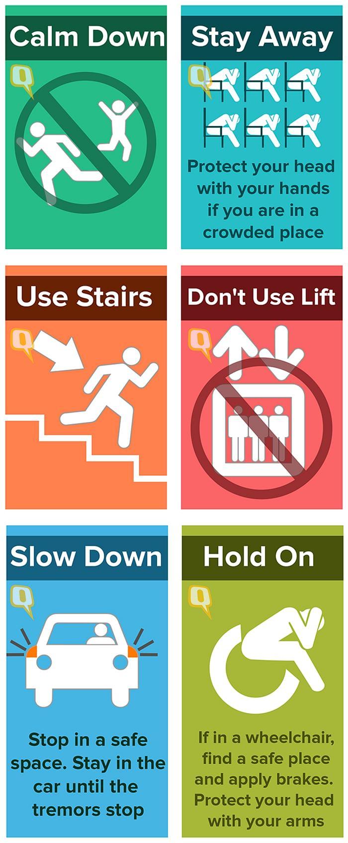 Infograph: What to Do When an Earthquake Strikes?