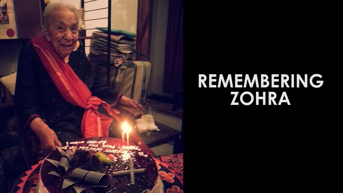 Zohra Sehgal on her 102nd birthday.