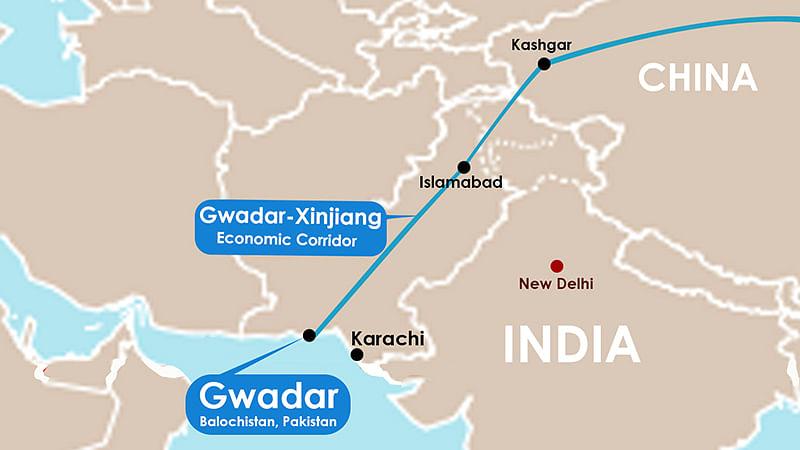 Chinese Premier Xi Jinxing will unveil a $46 billion economic corridor linking the strategic Gwadar Port in Balochistan to China's Xinjiang province.