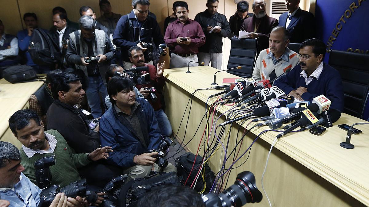 Delhi Chief Minister Arvind Kejriwal addressing the media (FilePhoto: Reuters)
