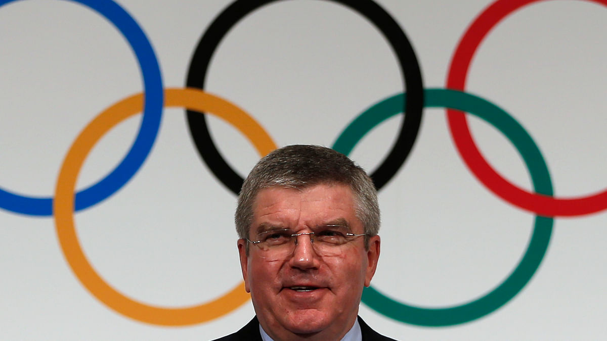 <!--StartFragment-->File photo:&nbsp;International Olympic Commitee (IOC) President Thomas Bach attends a news conference in 2013. (Photo: Reuters)<!--EndFragment-->