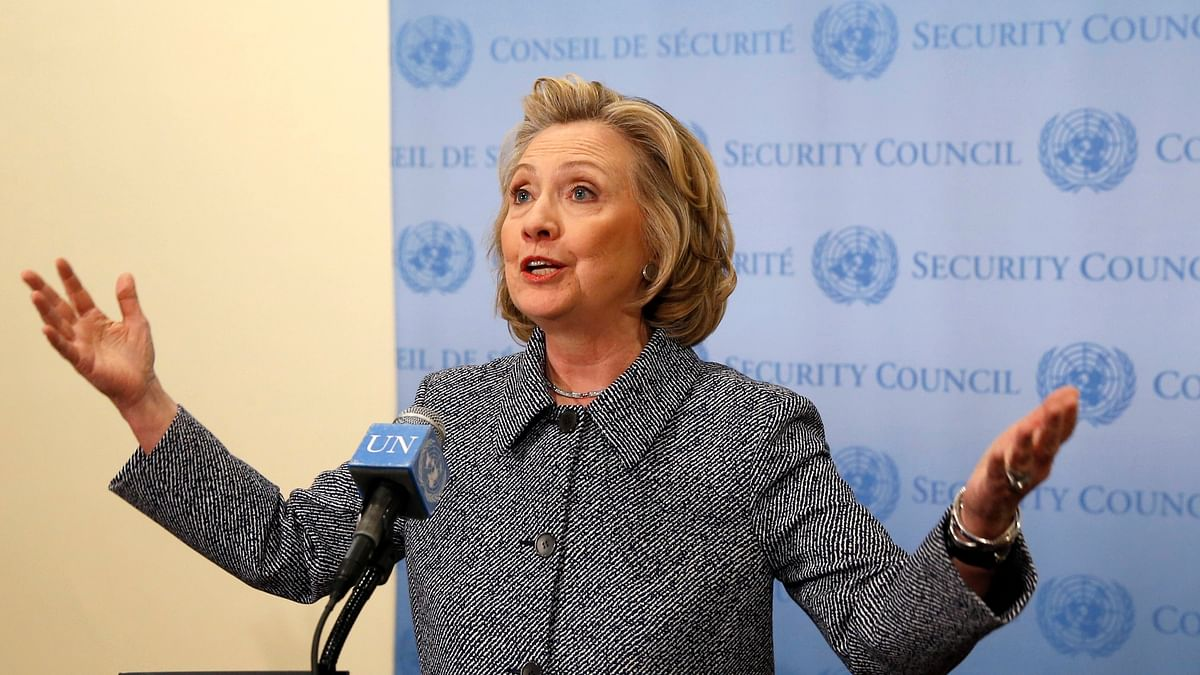 File photo: Former US Secretary of State, Hillary Clinton speaks during a press conference at the United Nations in New York. (Photo: Reuters)