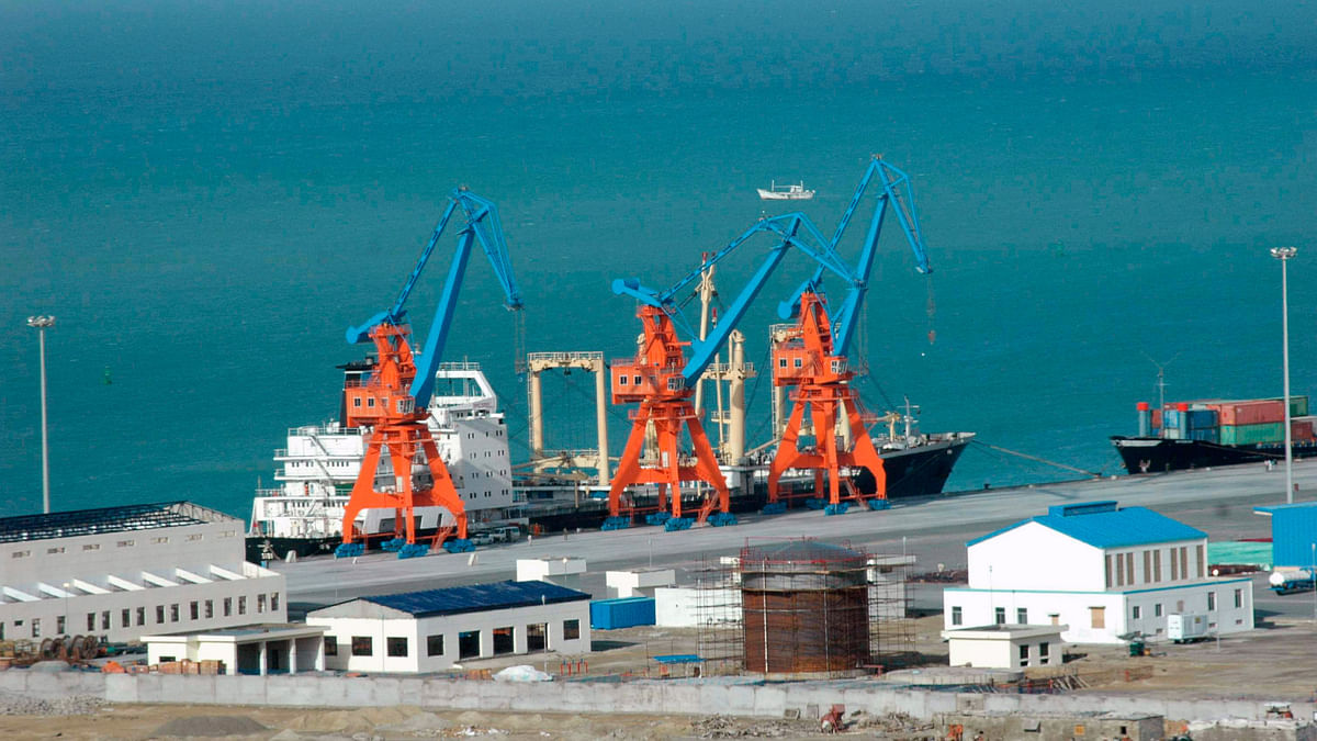A ship is seen anchored at Pakistan's Gwadar deep-sea port on the Arabian Sea. (Photo: Reuters)