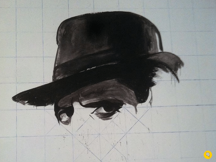 Work In Progress: Actor Pran painted on a wall in IIT Powai (Photo: Facebook/Bollywood Art Project)