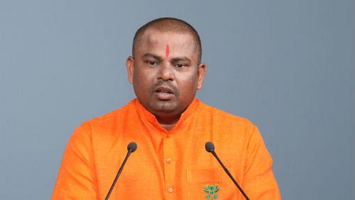 "BJP MLA from Hyderabad, T Raja Singh Lodh. (Photo Courtesy: <i><a href=""http://www.hindujagruti.org/news/19939.html"">hindujagruti.org</a></i>)"
