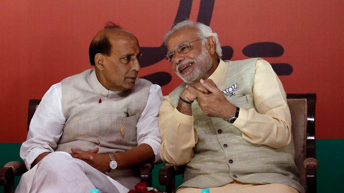 Home Minister Rajnath Singh with Prime Minister Narendra Modi.