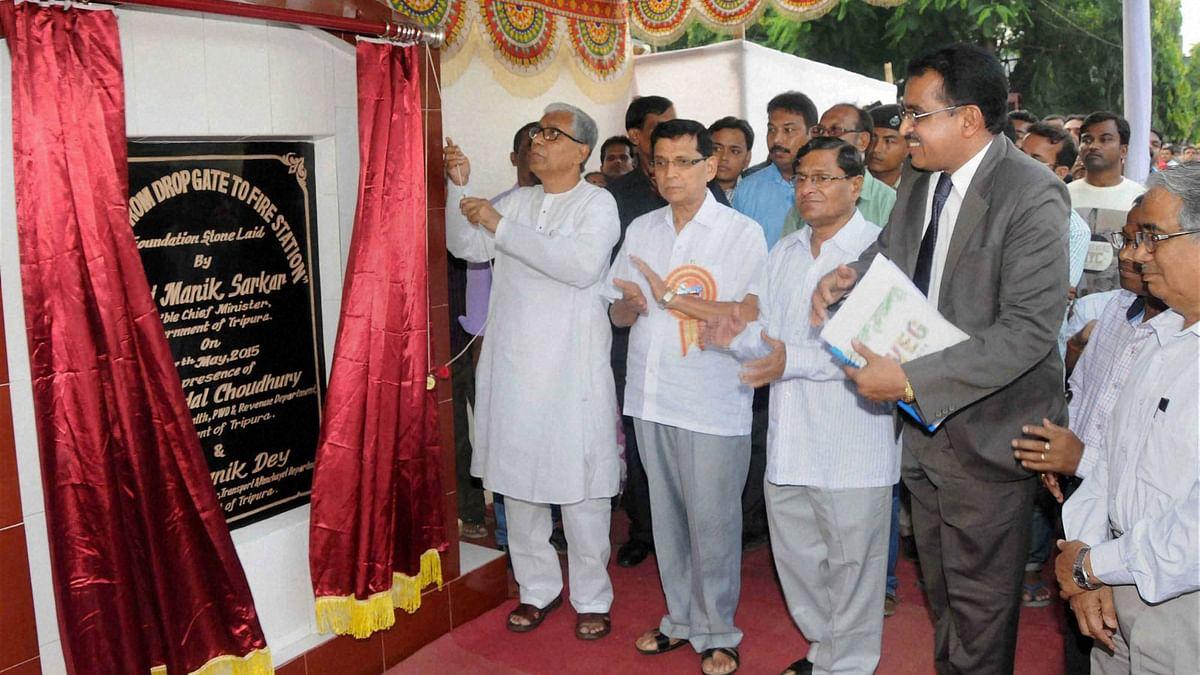 Tripura CM Manik Sarkar at an event in Agartala. (Photo: PTI)