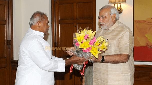 Former Bihar Chief Minister Jitan Ram Manjhi meets Prime Minister Narendra Modi. (Photo: PTI)