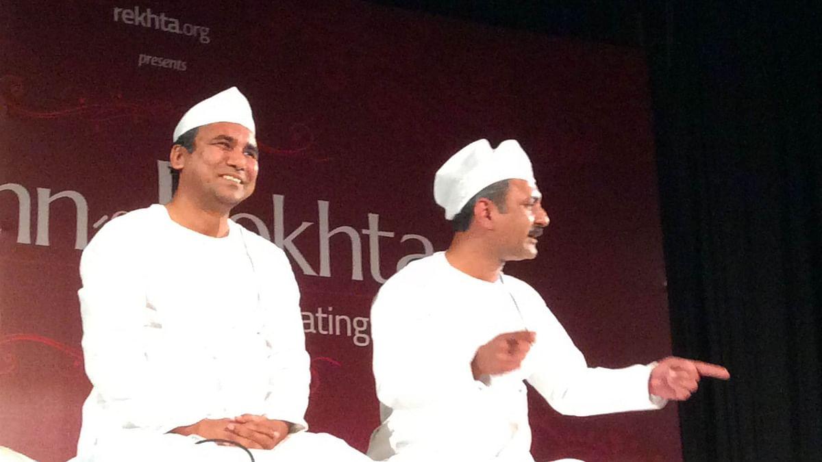 <i>Dastangoi</i> performed at India International Centre, Delhi. (Photo: Shambhavi Prakash)