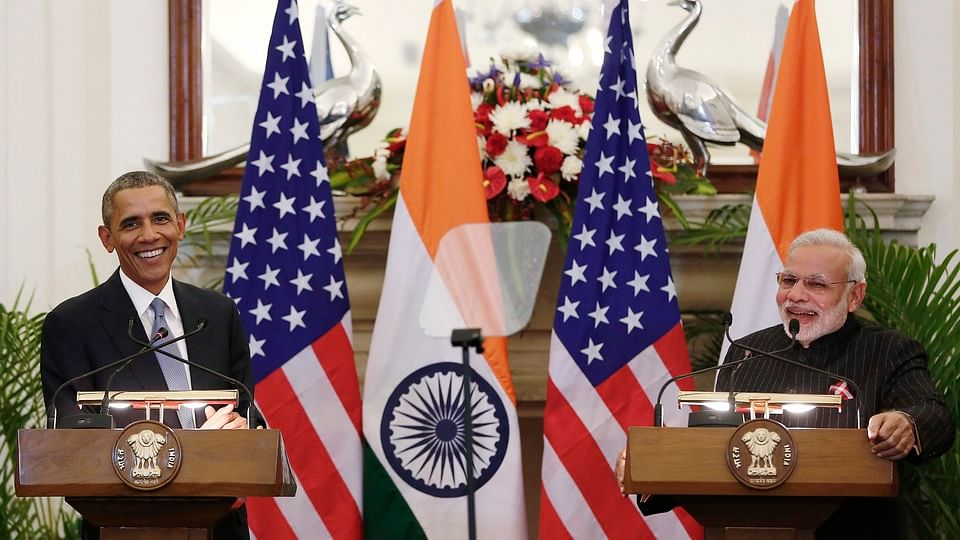 US President Barack Obama with the Indian Prime Minister in Delhi. (File Photo: Reuters)