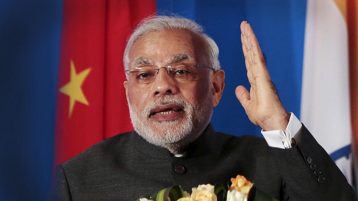 File photo of PM Narendra Modi in Shanghai, China.