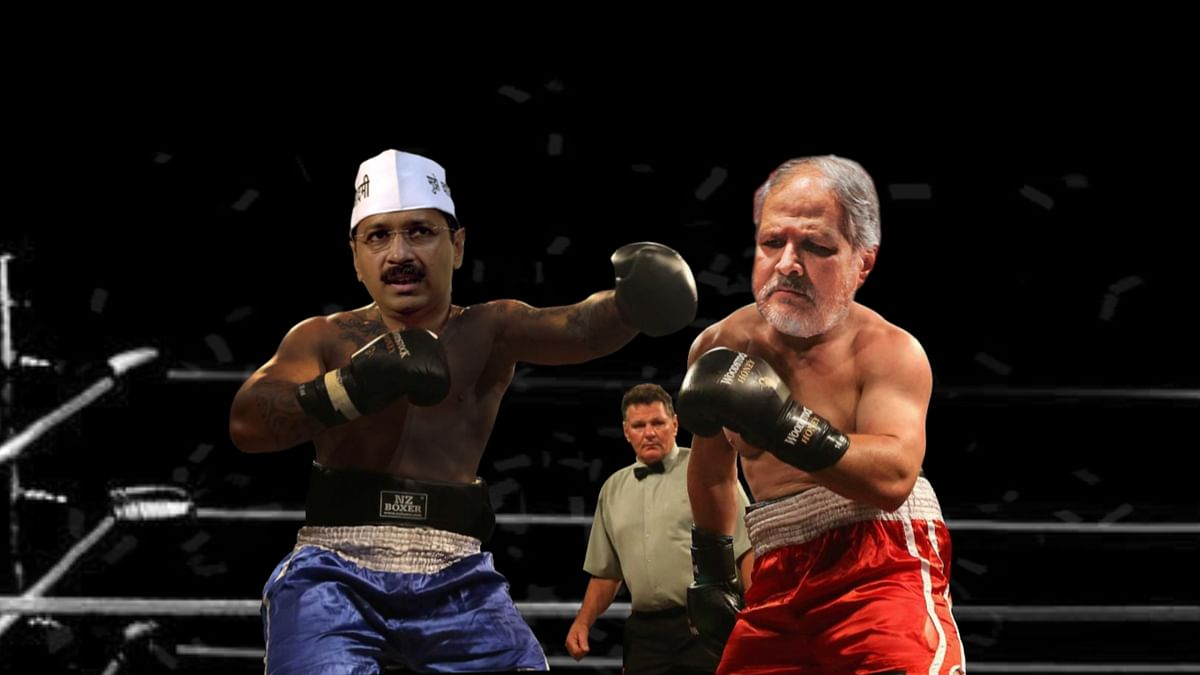 Anant & Saurabh's funny message to Arvind Kejriwal (Left) after his turf war with Najeeb Jung (Right).