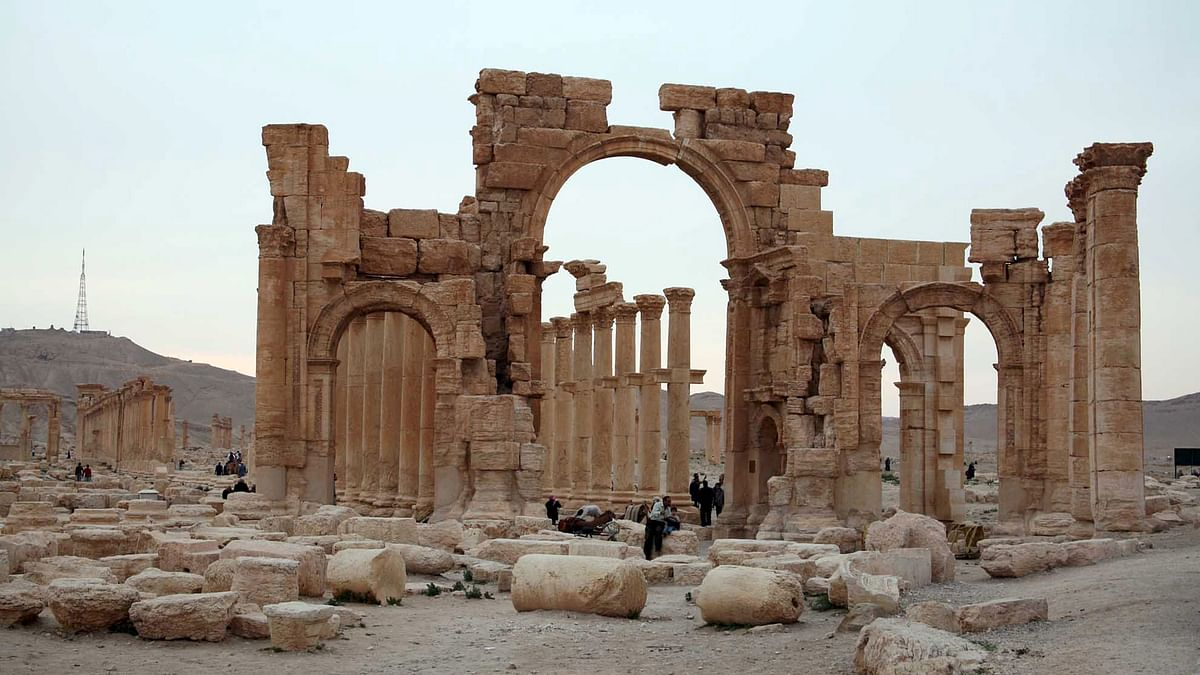 The ruin in city of Palmyra. (Photo: Reuters)