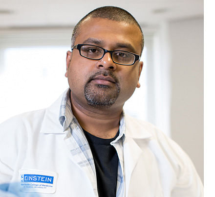 Dr Karthik Chandran's team of scientists is the first to make a key discovery  in Ebola in 40 years  (Photo: http://www.einstein.yu.edu)
