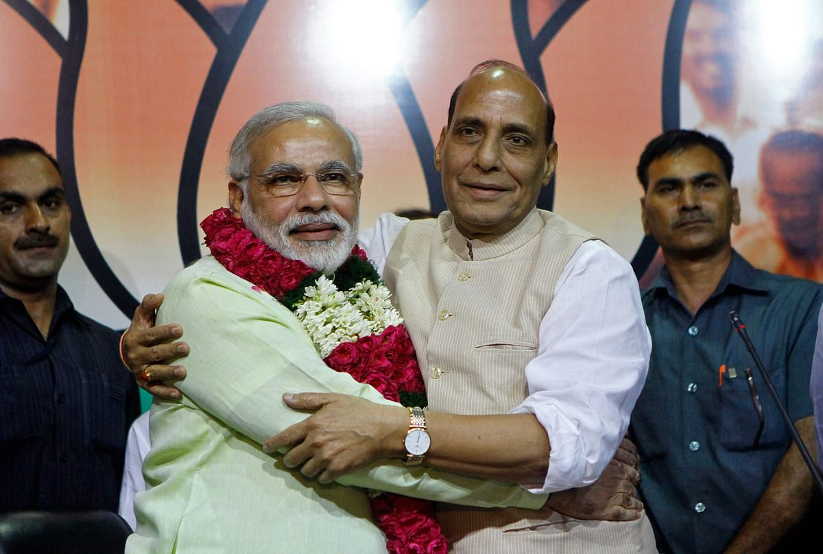 Prime Minister Narendra Modi and Home Minister Rajnath Singh. (Photo: Reuters)