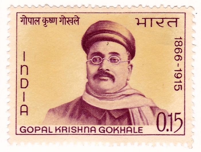 Stamp issued in Gokhale's honour.