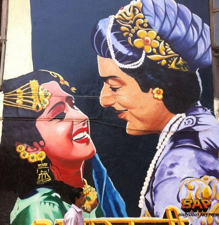 BAP's Anarkali mural on Chapel road (Photo: Facebook/Bollywood Art Project)