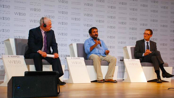 """File photo of Anand Kumar, Founder of Super 30 at a conference. (Courtesy: <a href=""""http://super30.org/Wise.html"""">Super30.org</a>)"""